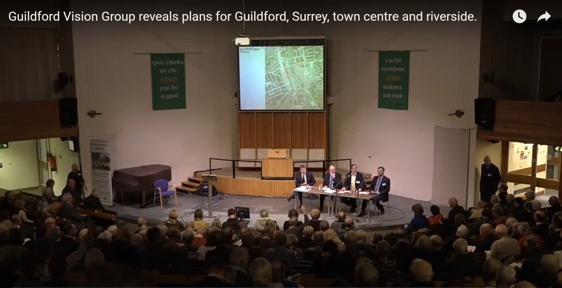 Launch of Guildford Vision Group's Revitalising Town Centre Plan