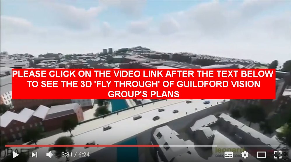 Guildford Vision Group fly through – video of new plans for Guildford